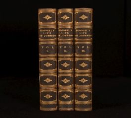1900 3vol James Boswell The Life Of Samuel Johnson LLD