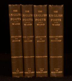 1900 - 1902 4 Vol The English Poets Selections Thomas Humphry Ward