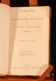 1850 Salmagundi or the Whim-Whams and Opinions of Launcelot Langstaff Irving