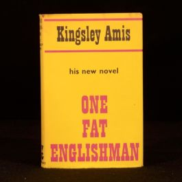 1986 Kingsley Amis One Fat Englishman First Edition Dustwrapper