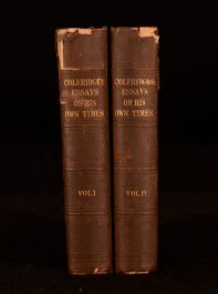 1850 2Vol Samuel Taylor Coleridge Essays His Own Times Edited Daughter First Ed