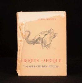 1946 CROQUIS D'AFRIQUE Maxime Lefebvre-Despeaux Signed Limited