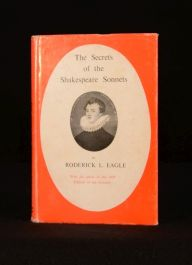 1965 The Secret of the Shakespeare Sonnets Roderick Eagle First Edition