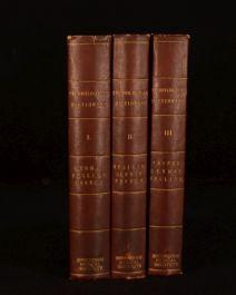 1877 3vol Technologisches Worterbuch in Deutscher Franzosischer und Englischer