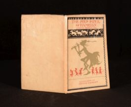 1934 Pied Piper Of Hamelin By Browning Illustrated Rackham DUSTWRAPPER FIRST ED