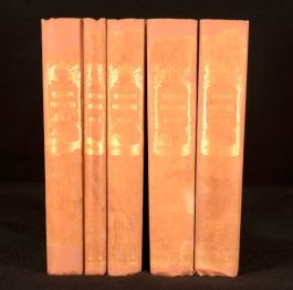 1873 5Vols Signed John Ruskin Modern Painters Art Criticism Old Masters Turner