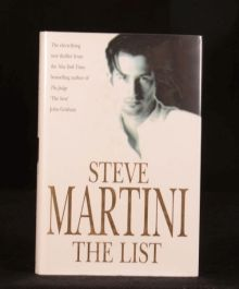1997 The List First Edition Steve Martini with Dustwrapper Thriller