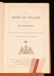 1867 The Book Of PSALMS Translated Out Of The Original Hebrew