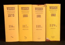 1979-82 4vol Wisden Cricketers' Almanack Sporting Reference Book Norman Preston
