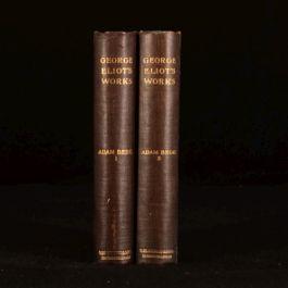 c1900 2vol Adam Bede by George Eliot Fiction Novel Blackwood Standard Edition