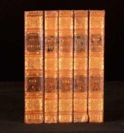 1822 5vol The History of Don Quixote of La Mancha Motteux Cervantes Colour