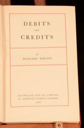 1926 Debits and Credits Rudyard Kipling First Edition Short Stories Poems