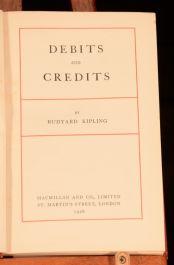 1926 Debits and Credits Rudyard Kipling First Edition Short Stories Poems