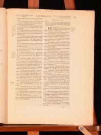 1662-70 Latin BIBLE Liber Genesis Hebraice Beresith Sacrorum Bibliorum