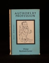 1978 Victor Bonham-Carter Signed First Edition Authors By Profession Volume One