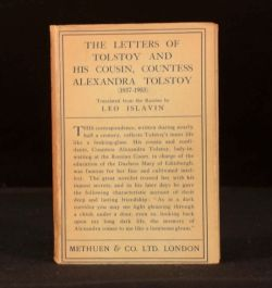 1929 The Letters of Tolstoy and His Cousin, Countess Alexandra Tolstoy First