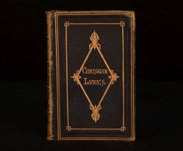 c1870 Christian Lyrics Chiefly Selected From Modern Authors Engrave Frontispiece