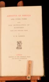 1897 Adrastus Of Phrygia And Other Poems E H Pember Limited First Edition