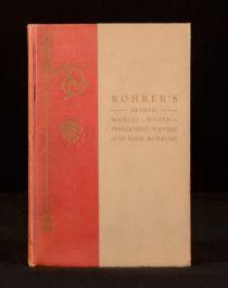 c1924 Rohrer Artistic Marcel Water Permanent Waving Hair Bobbing Scarce Plates