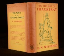 1938 William Makepeace Thackeray Art Wethered Satire Caricature First Edition