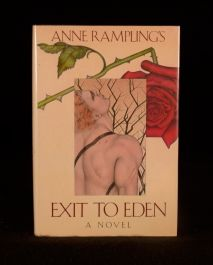 1985 Anne Rampling Exit to Eden Erotic Novel Dustwrapper First Edition