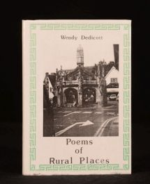 1990 Poems of Rural Places Wendy Dedicott Scarce First Edition in Dustwrapper