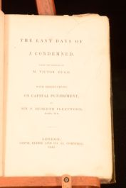 1840 The Last Days of a Condemned Victor Hugo With Notes by P Hesketh Fleetwood