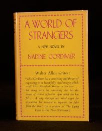 1958 A World of Strangers Nadine Gordimer First Edition SIGNED In Dustwrapper