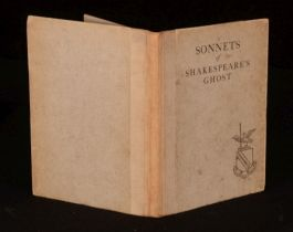 1920 Sonnets of Shakespeare's Ghost Gregory Thornton Signed Angus & Robertson