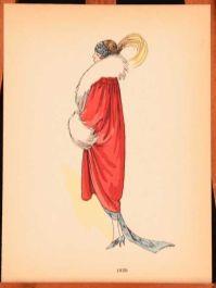 c1900 2vols La Mode Feminine 1795-1900 and 1900-1920 Costume History Plates