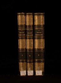 1856 Descombaz 3Vols French Language Bible Guide Leather Bindings