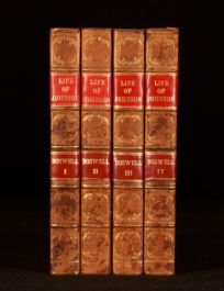1826 4vol The Life of Samuel Johnson James Boswell Pickering Edition