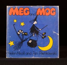 1972 3vol Meg and Mog Megg's Eggs Meg at Sea Helen Nicoll FIRST EDITIONS DWs