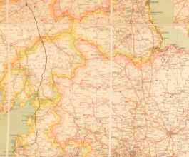 c1885 Map of England and Wales Large Folding Coloured Map