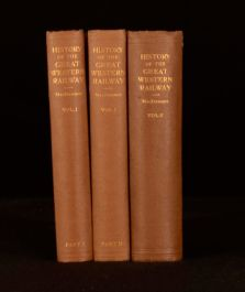 1927-31 3 Vols MacDermot The History of the Great Western Railway First Edition
