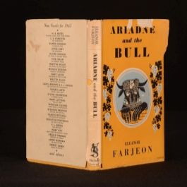 1945 Ariadne and the Bull by Eleanor Farjeon First Edition With Dustwrapper