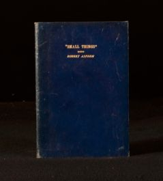 c1940 Small Things a Selection of Essays and Verse by Robert Aspden