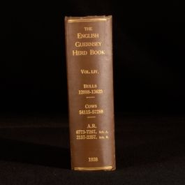 1938 The English Guernsey Cattle Society Herd Book Robert F Ling LIV