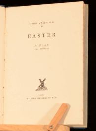 1929 Easter by John Masefield A Play For Singers Verse First Edition Dustwrapper