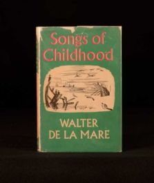 1956 Songs of Childhood by Walter de la Mare with Illustrations