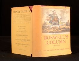 1951 Boswell's Column with Introduction and notes by Margery Bailey First Ed