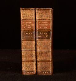 1815 2vols Histoire Abregee de la Litterature Romaine Bound in Two Volumes