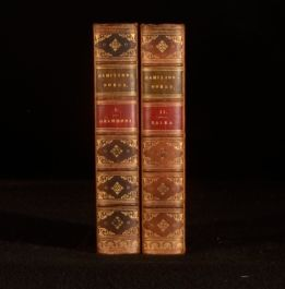 1849-53 2vol Select Works of Anthony Hamilton Charles II Tales Walter Scott