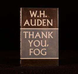 1974 W H Auden Thank You Fog First Edition Dustwrapper