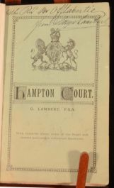 c1882 Hampton Court George Lambert Illustrated Signed by Author Very Scarce
