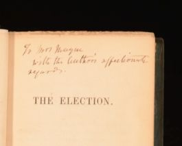 1840 The Election George Brittaine Presentation Copy from the Author