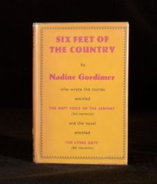 1956 Six Feet of the Country Nadine Gordimer First Edition Signed
