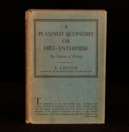 1944 Lipson A Planned Economy Or Free Enterprise Unclipped Dustwrapper First