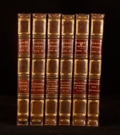 1823-75 6vol Works of Lord Byron Leather Binding Childe Harold Doge of Venice