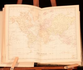 1885-1886 2Vol The World As it Is George Chisholm Coloured Plates Maps